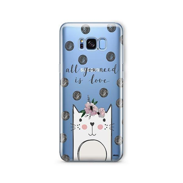 Cat Love -  Samsung Galaxy S8 Clear Case