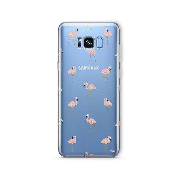 Chillin Flamingo -  Samsung Galaxy S8 Plus Case Clear