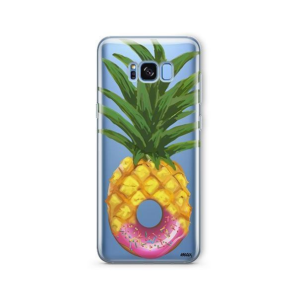 Donut Pineapple - Samsung Galaxy S8 Plus Case Clear