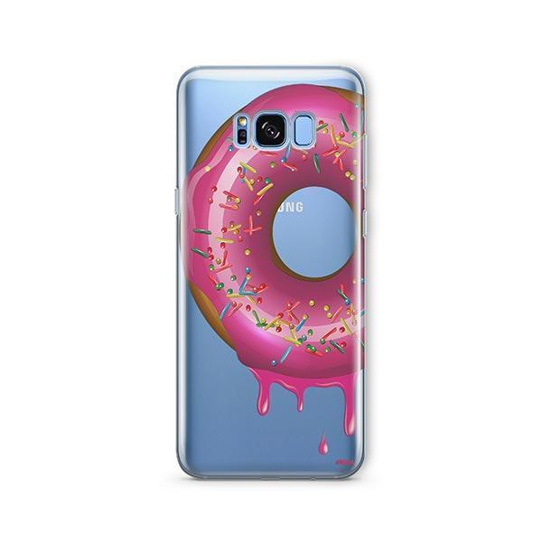 Dripping Donut - Samsung Galaxy S8 Plus Case Clear