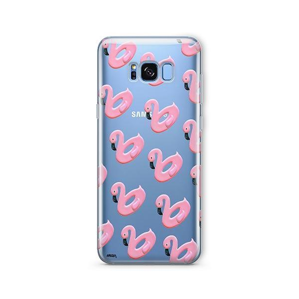 Flamingo Floaties - Samsung Galaxy S7 Edge Case Clear