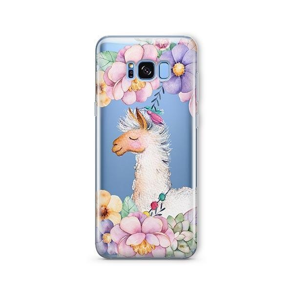 Floral Llama - Samsung Galaxy S7 Edge Case Clear