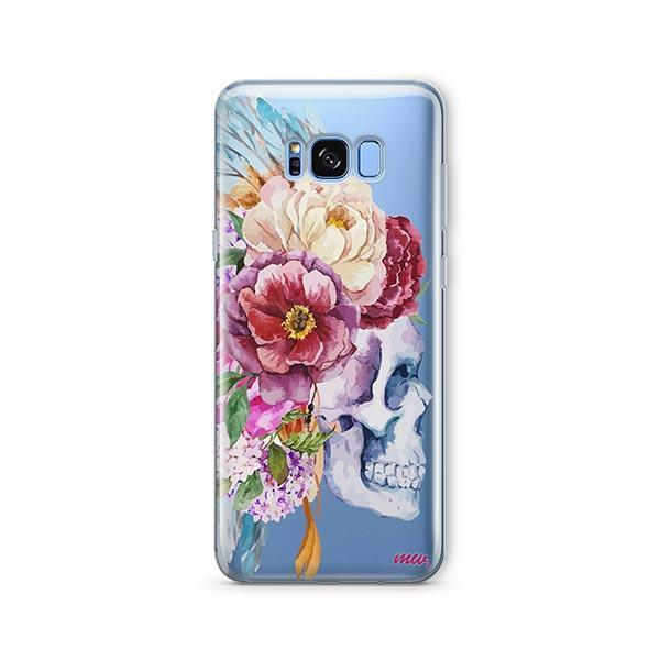 Craneo De La Flor - Samsung Galaxy S8 Plus Case Clear