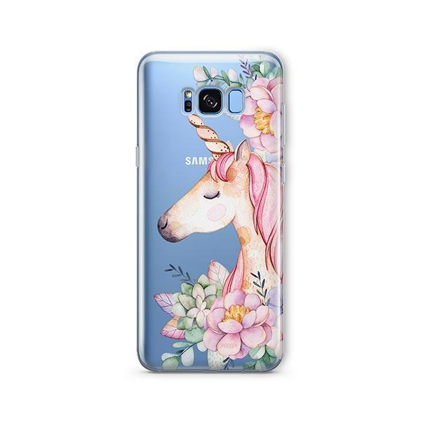 Floral Unicorn - Samsung Galaxy S7 Edge Case Clear