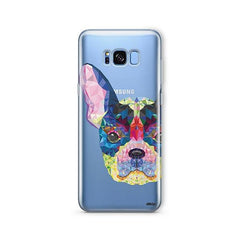 Geometric Frenchie -  Samsung Galaxy S7 Edge Clear Case
