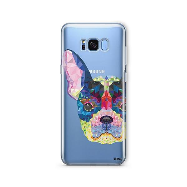Geometric Frenchie -  Samsung Galaxy S8 Clear Case
