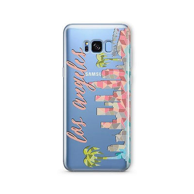 Geometric Los Angeles - Samsung Clear Case