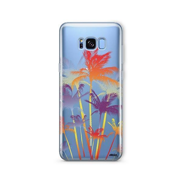 Hipster Palm Tree - Samsung Galaxy S7 Edge Case Clear