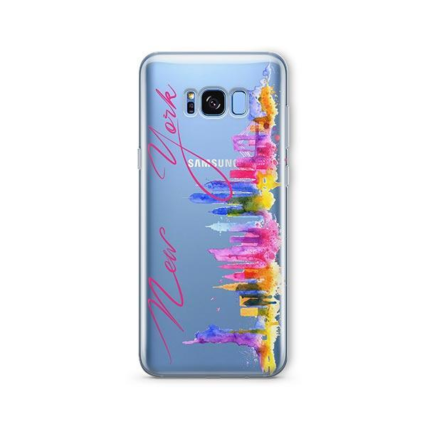 Watercolor New York - Samsung Galaxy S7 Edge Case Clear