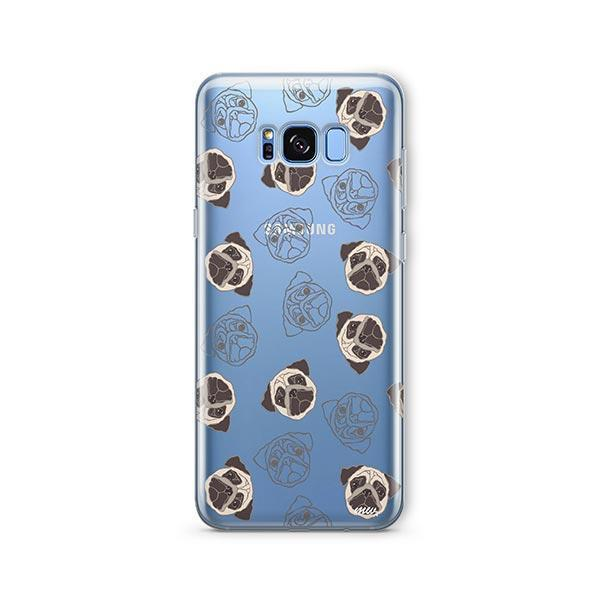 Pug Overload -  Samsung Galaxy S8 Clear Case