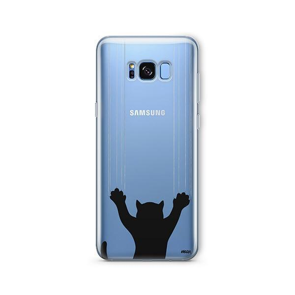 Scratchy Cat -  Samsung Galaxy S8 Clear Case