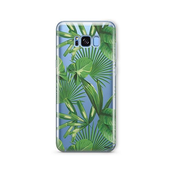 Tropical Palm Leaves - Samsung Galaxy S8 Case Clear
