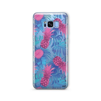 Purple Summertime Pineapple - Samsung Clear Case