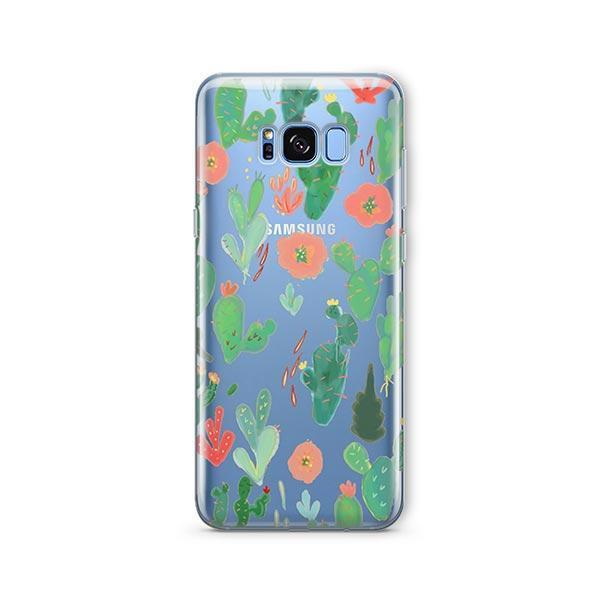 Watercolor Cactus - Samsung Galaxy S7 Edge Case Clear