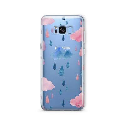 Watercolor Rain - Samsung Clear Case