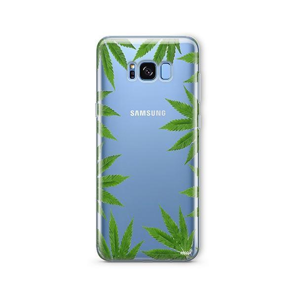 Weed Frame - Samsung Galaxy S8 Case Clear