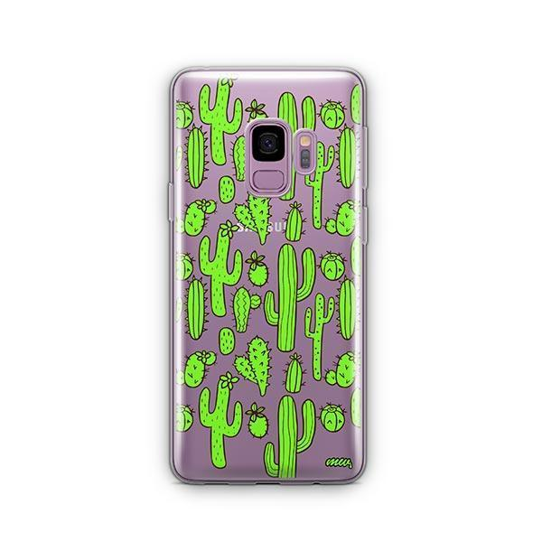 Cactus Overload - Samsung Galaxy S9 Case Clear