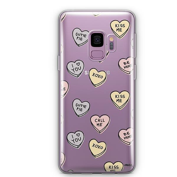 hot sale online 643d6 3dfa4 Candy Hearts - Samsung Galaxy S9 Case Clear