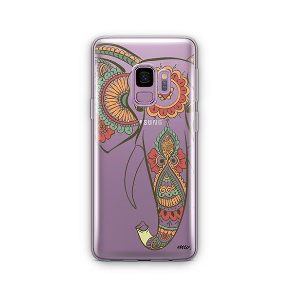 Colored Tribal Elephant -  Samsung Galaxy S9 Case Clear