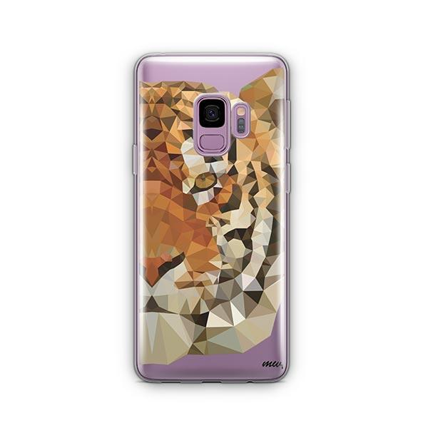 Geometric Tiger -  Samsung Galaxy S9 Case Clear
