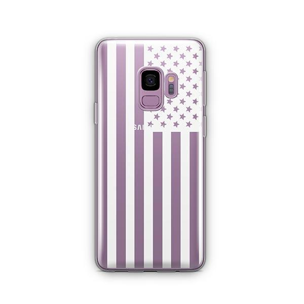 USA Flag - Samsung Galaxy S9 Case Clear