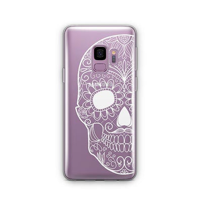 Henna Floral Skull - Samsung Clear Case