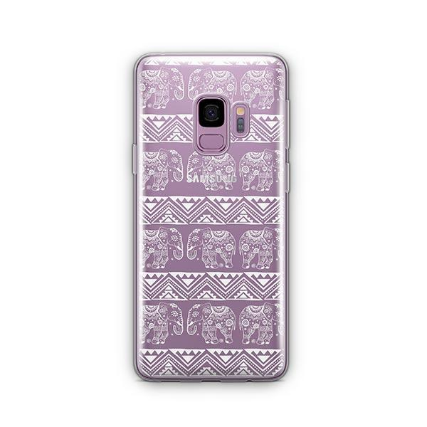 Henna Lotus Floral Elephant -  Samsung Galaxy S9 Case Clear