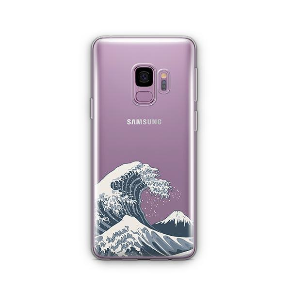 Japanese Wave - Samsung Galaxy S9 Case Clear