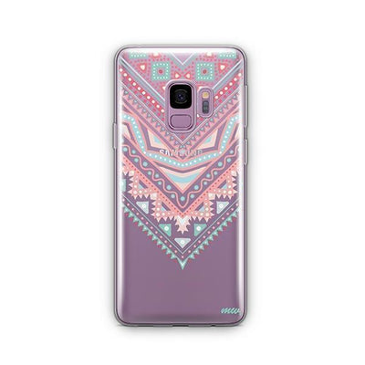 Pastel Aztec Triangle - Samsung Clear Case