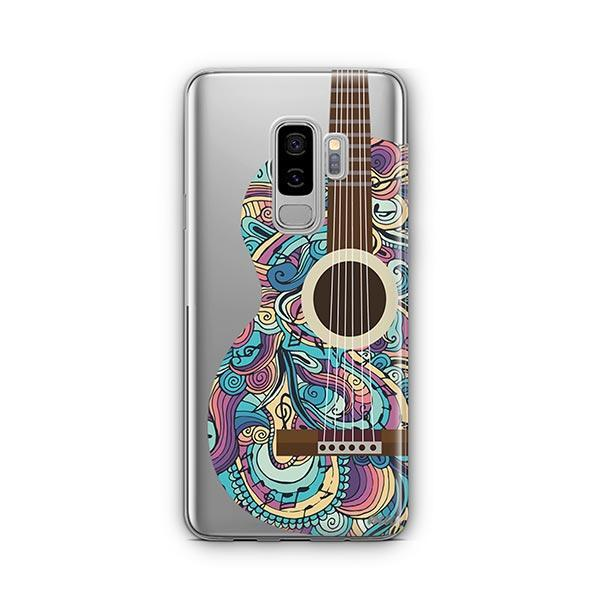 Henna Abstract Guitar - Samsung Galaxy S9 Plus Case Clear