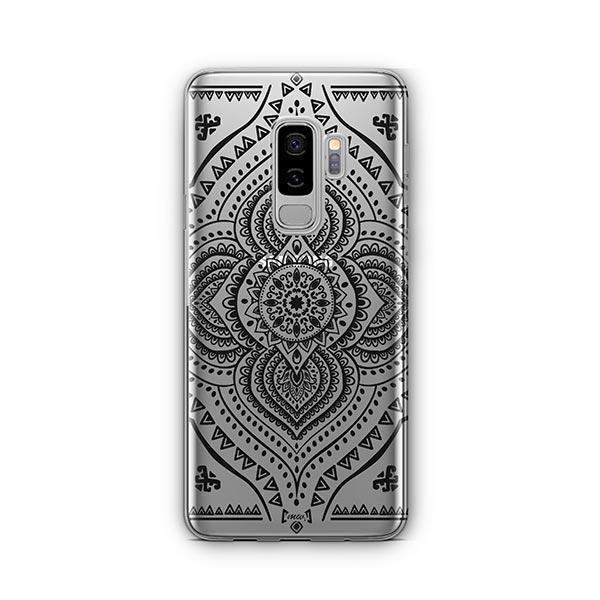 Black Opulent Mandala - Samsung Galaxy S9 Plus Case Clear
