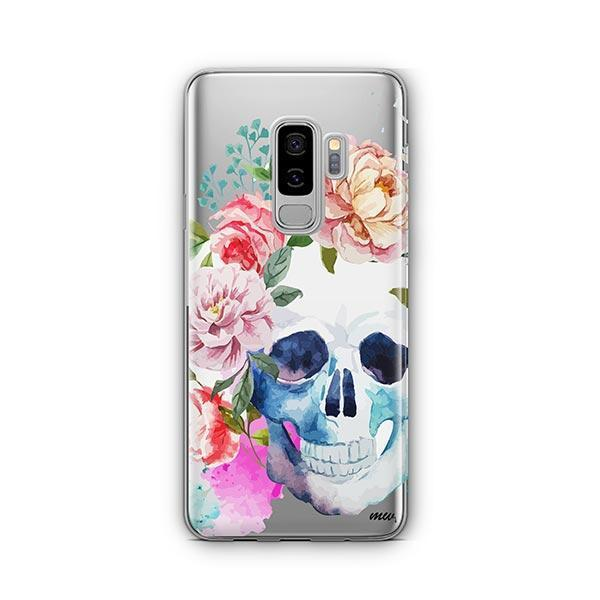 Colored Floral Skull - Samsung Galaxy S9 Plus Case Clear