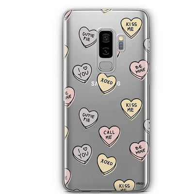 Candy Hearts - Samsung Clear Case