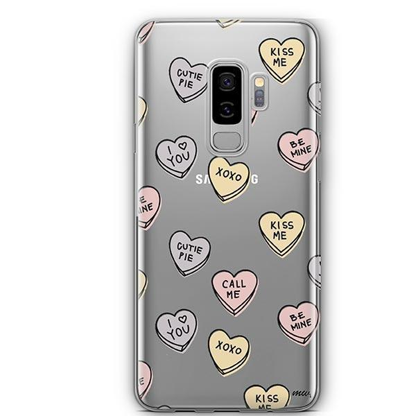 Candy Hearts - Samsung Galaxy S9 Plus Case Clear