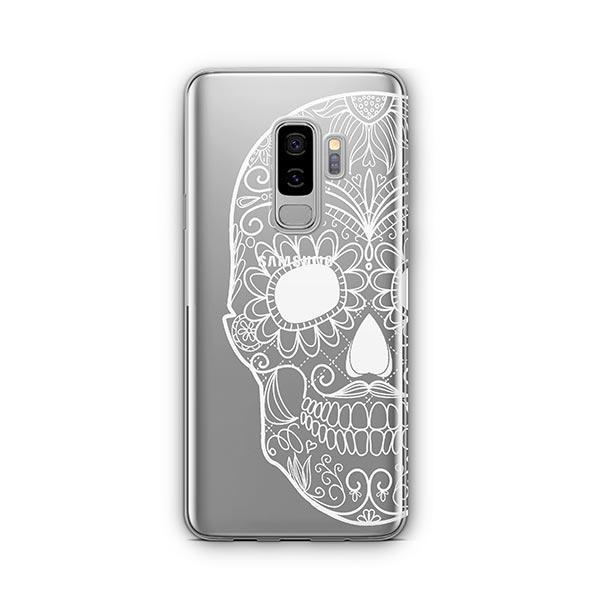 Henna Floral Skull - Samsung Galaxy S9 Plus Case Clear