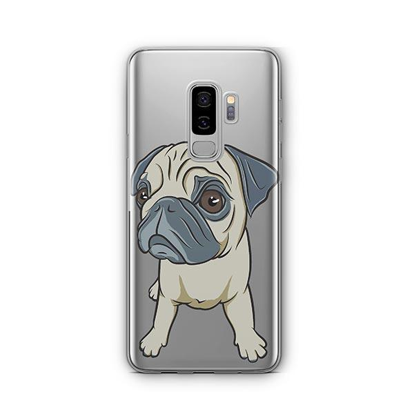 Full Pug -  Samsung Galaxy S8 Plus Clear Case