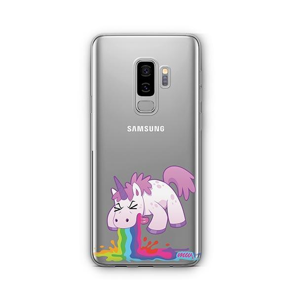 Puking Unicorn - Samsung Galaxy S9 Plus Case Clear