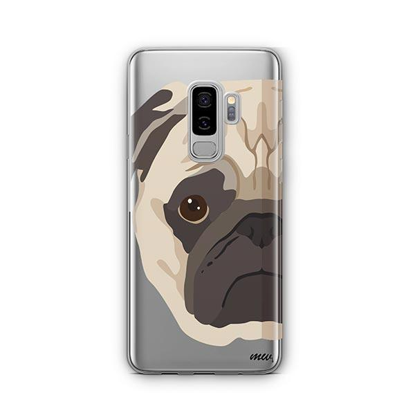 The Pug Case -  Samsung Galaxy S8 Plus Clear Case