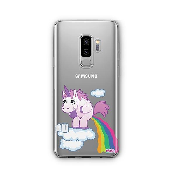 Pooping Unicorn - Samsung Galaxy S9 Plus Case Clear