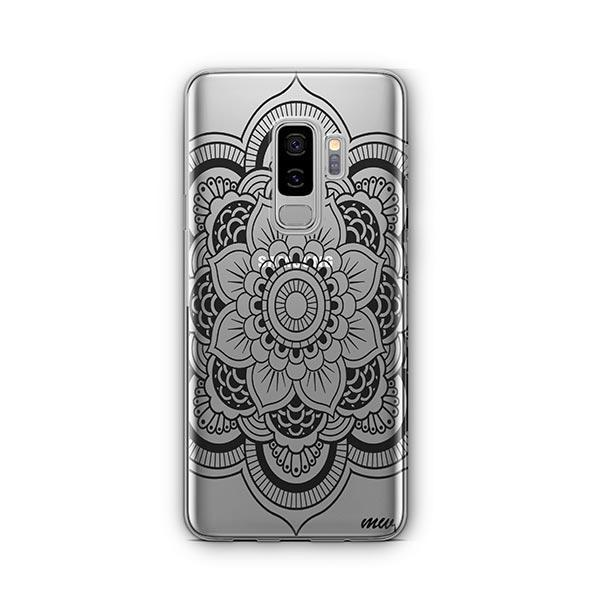 Black Henna Full Mandala - Samsung Galaxy S9 Plus Case Clear