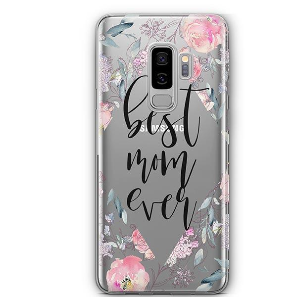 san francisco 3aa5d cc7be Best Mom Ever Floral - Samsung Galaxy S9 Plus Case Clear - Milkyway