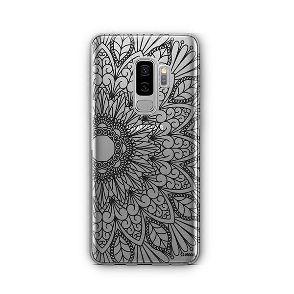 Black Mandala - Samsung Galaxy S9 Plus Case Clear