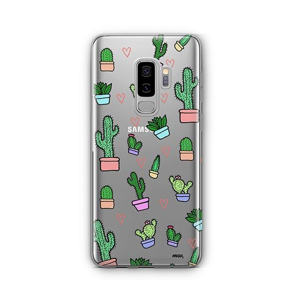 Cactus Love - Samsung Galaxy S9 Plus Case Clear