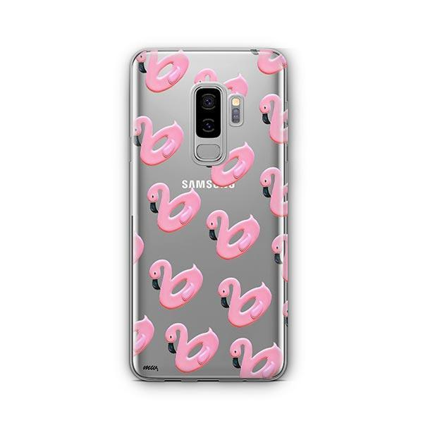 Flamingo Floaties - Samsung Galaxy S9 Plus Case Clear