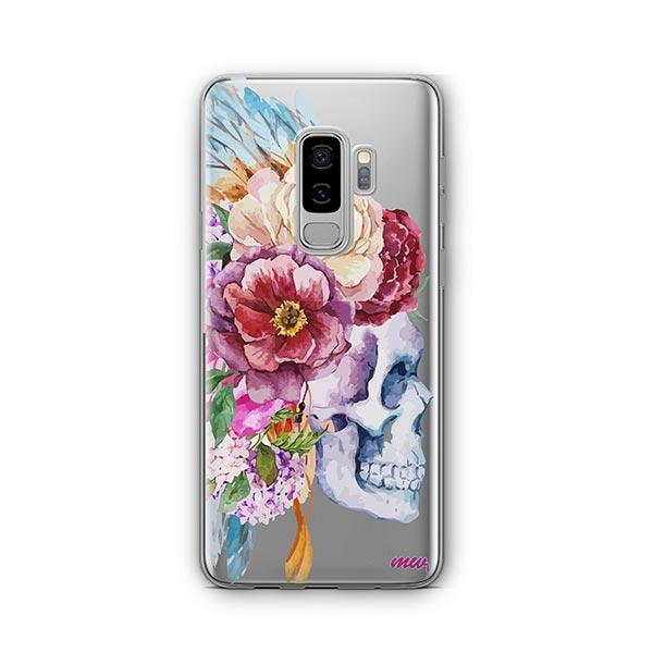 Craneo De La Flor - Samsung Galaxy S9 Plus Case Clear