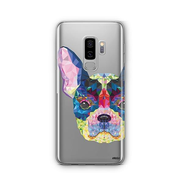 Geometric Frenchie -  Samsung Galaxy S8 Plus Clear Case