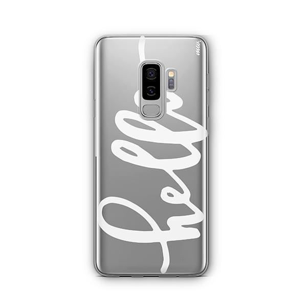 Hello - Samsung Galaxy S8 Plus Case Clear