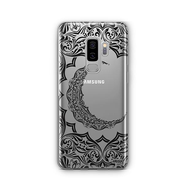 new arrival 17b68 8a06f Crescent Moon Henna - Samsung Galaxy S9 Plus Case Clear