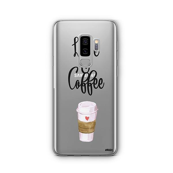 Love And Coffee - Samsung Galaxy S9 Plus Case Clear