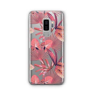 Pink Palm Leaves - Samsung Clear Case
